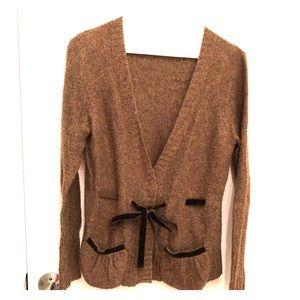 BCBG Maxazria M Chocolate Brown Wool Sweater